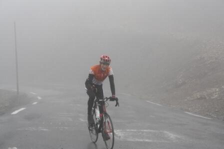 Jean-Claude au sommet du col du Galibier