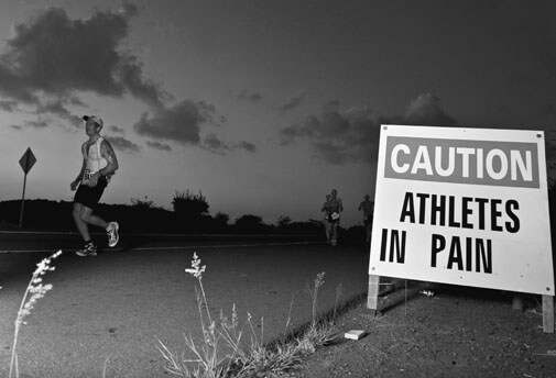 Caution : Athletes in pain