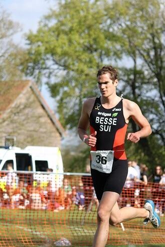 Jean-Claude Besse départ course à pied BUCS sprint triathlon