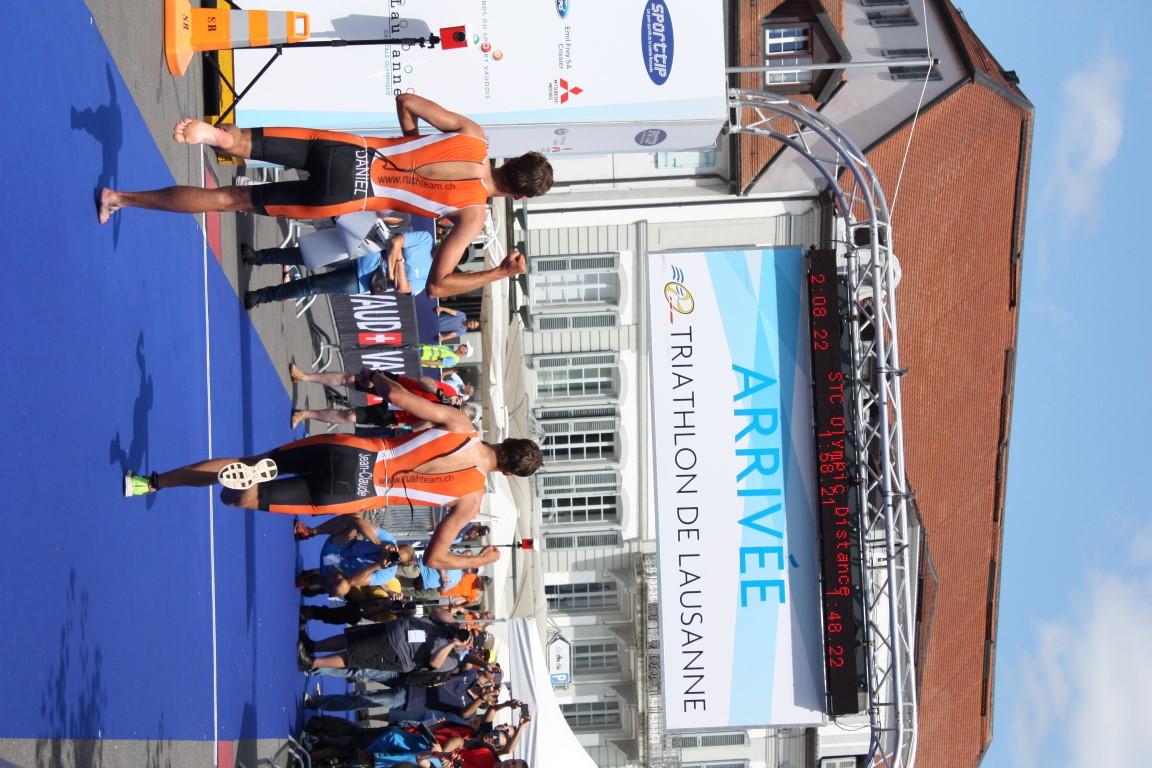 Tri Lausanne 2016 - Finish avec Jean-Claude