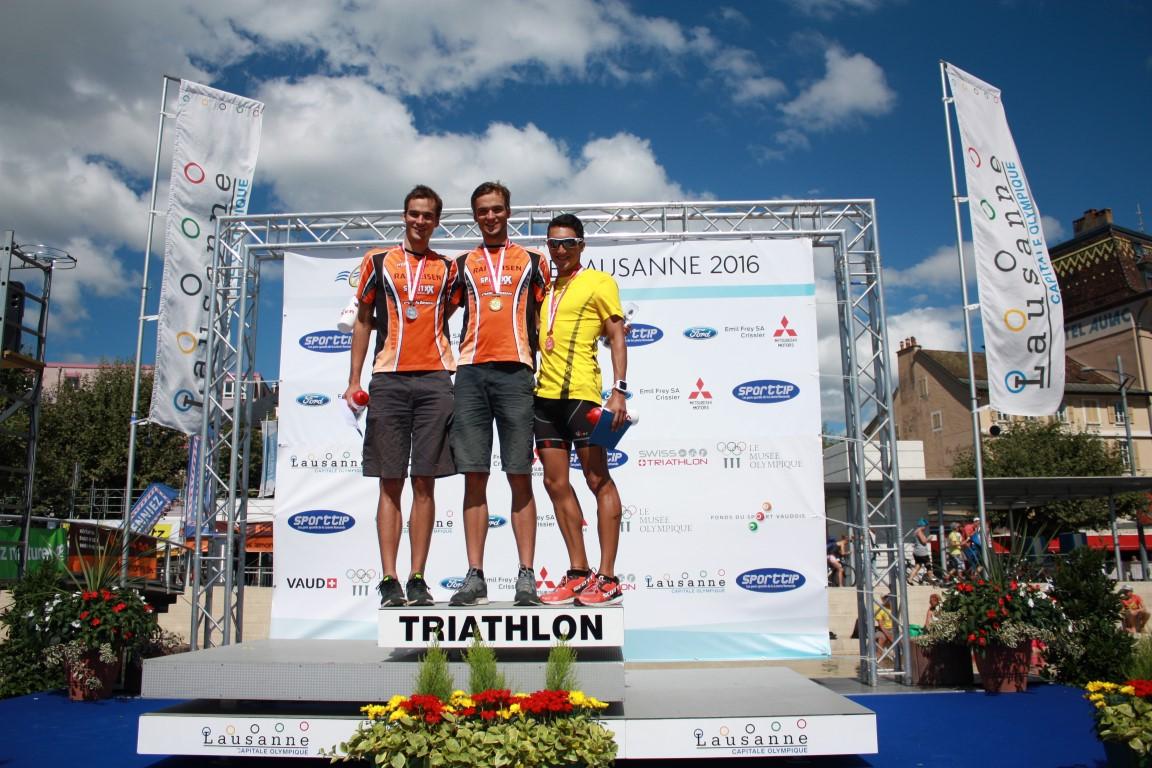 Tri Lausanne 2016 - podium