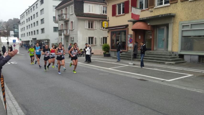 Peloton TV Oerlikon au premier tour du marathon