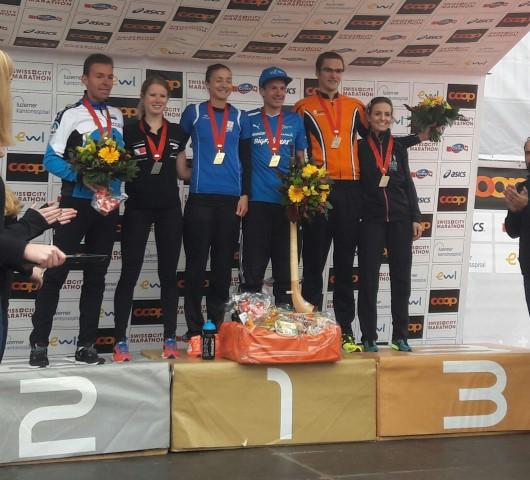 Podium marathon Lucerne