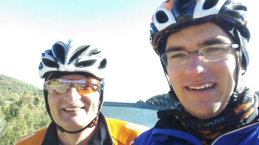 P-A et Daniel au barrage de Riudecanyes