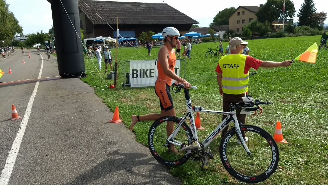 Uster triathlon 2017: T2