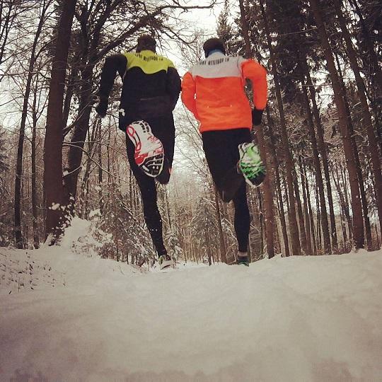 Course à pied sur la neige à Hönggerberg