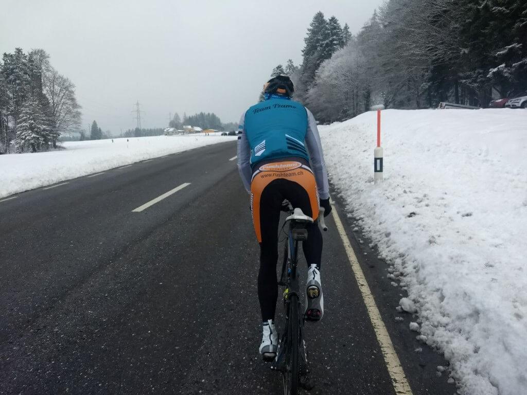Sortie dans le froid à Zürich