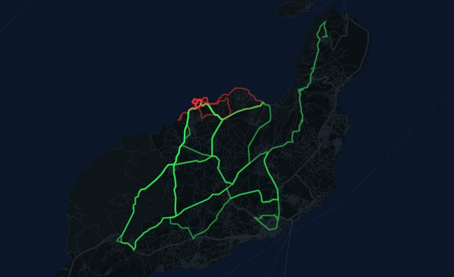 Heatmap Lanzarote