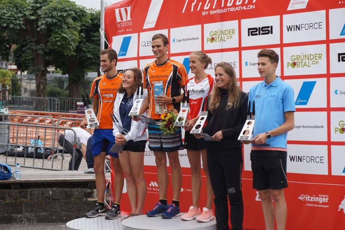 2018 Zug podium